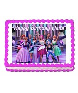 BARBIE Rock'n Royals party edible cake image cake topper frosting sheet - $7.80