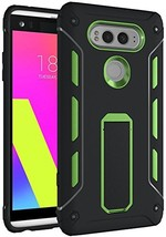 LG V20 Case, Heavy Duty Dual Layer [Kickstand Series] Internal (Green Bl... - $15.53