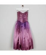 Gunne Sax Faded Ombre Purple Strapless Formal Gown Dress Glitter Vtg 80s... - $54.44