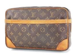Authentic LOUIS VUITTON Compiegne 28 GM Monogram Pochette Clutch Bag #34234 - $195.00