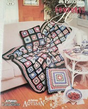 Patons Comforts Of Home Afghans Crochet Booklet - 1990 - $2.00