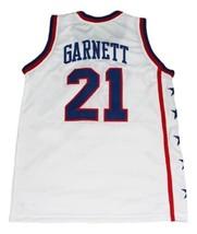 Kevin Garnett #21 McDonald's All American Basketball Jersey Sewn White Any Size image 2