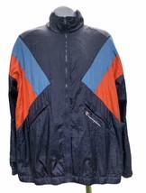 Vintage 80s Champion Colorblock Full Zip Retro Windbreaker Jacket Size XL - $45.99