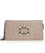 Authentic NWT Eric Javits NYC Women's Handbag - Devi Clutch in Taupe Glow - $94.05