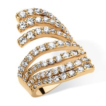 2.74 TCW Cubic Zirconia Multi-Row Fashion Ring 18k Gold-Plated - $19.75