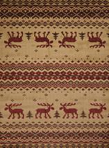 "8x11 (7'10"" x 10'6"") Lodge Cabin Moose Area Rug - $199.00"