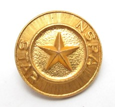 Vintage Nspa Star Tiny Antique Gold Plated Or Filled Tie Or Lapel Hat Pin - $12.86