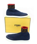 NIB Fendi Mens Blue Logo Wool Sock Sneakers New 10 US New $690 - $375.00