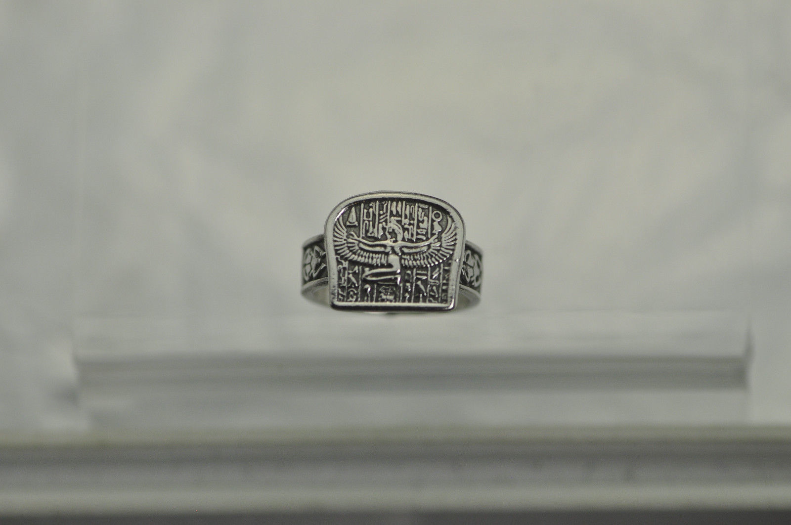 New Egyptian Isis Goddess Sterling silver 925 hieroglyphics Ring egypt Jewelry