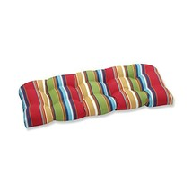 Pillow Perfect Outdoor Westport Garden Wicker Loveseat Cushion, Multicol... - £35.92 GBP