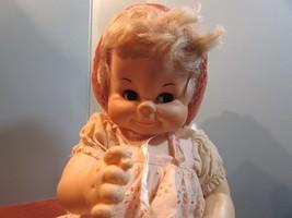 "Vintage 1967 16""  EFFANBEE BROWN FLIRTY OPEN CLOSE EYES Vinyl Baby Doll  - $34.65"