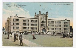 Oklahoma City High School OK 1912 postcard - $5.45