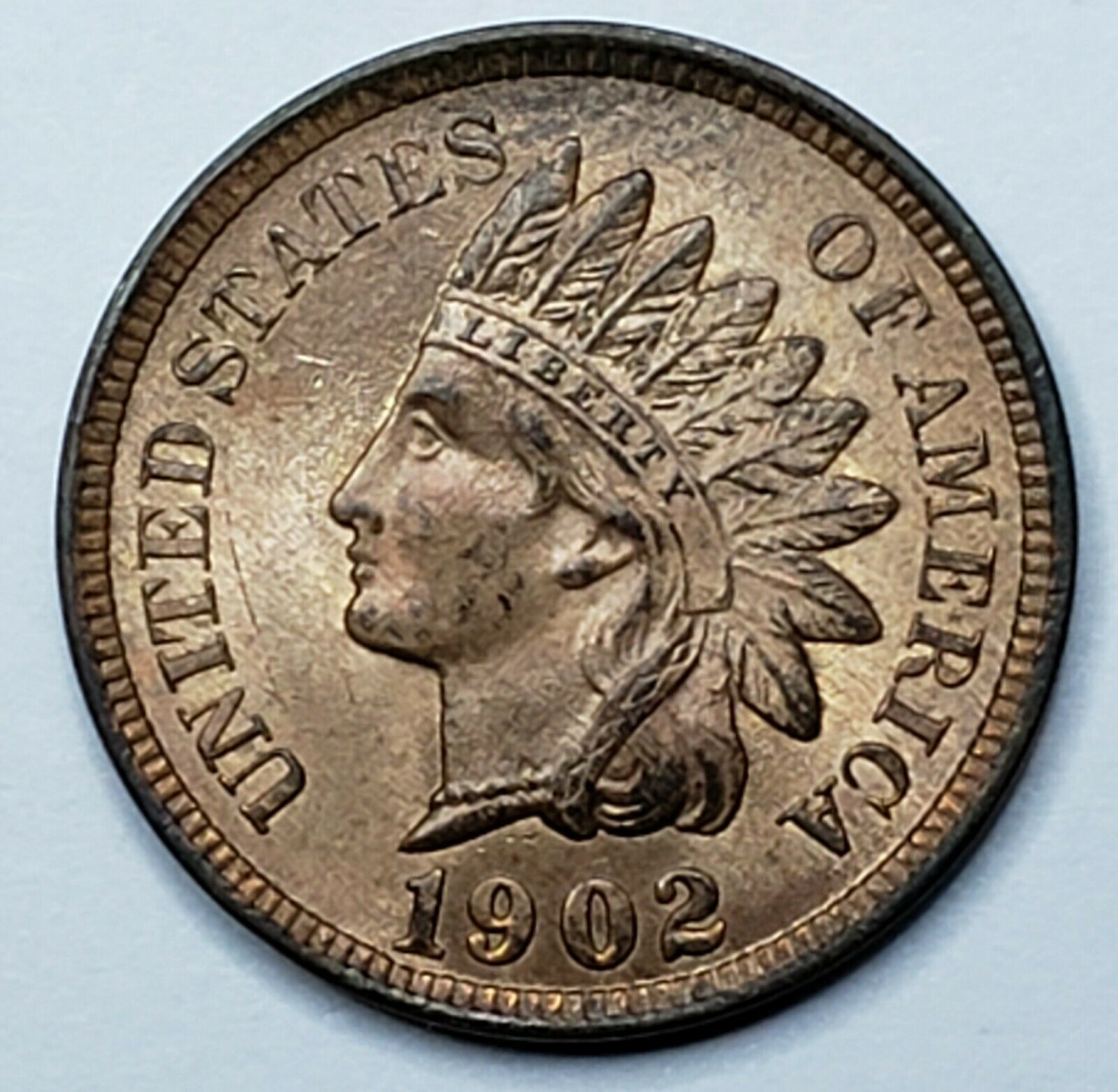 1902 Indian Head Cent Penny Coin Lot 519-93