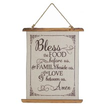 wall decoration, small Bless Food Linen living room decorative wall, wood  - $27.49