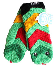 Neff Green Red Black Yellow Anamit Mitten Snake Winter Gloves F11732SNK NWT image 2