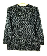LILLY of CALIFORNIA Womens Sweater Tunic - XL - Black - Long Sleeve Stre... - $49.00