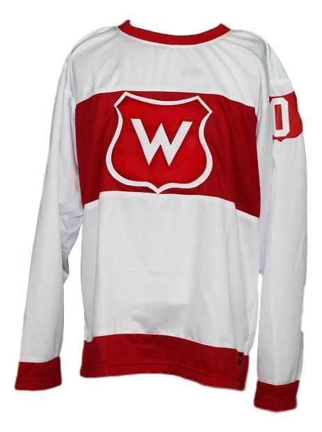 Custom   montreal wanderers retro hockey jersey white   1