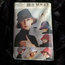 Vogue 7460 LOLA Fall Hats in 7 Designs Partially Cut to Size Large Compl... - $17.74