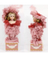 Porcelain doll Victorian pink outfit  - $125.00