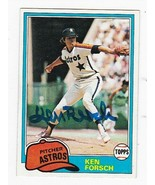 KEN FORSCH AUTOGRAPHED CARD 1981 TOPPS HOUSTON ASTROS - $3.58