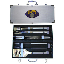 navy stainless steel 8 piece bbq set with case - $90.24