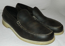 COLE HAAN Resort LOAFER 10.5 Black Gray SHOES Driving Moccasins CASUAL D... - $39.59