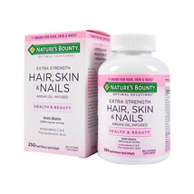 Nature's Bounty Hair Skin & Nails 5000mcg Biotin 150 Softgels Extra Strength - $17.33