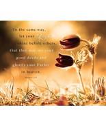 Bible Scripture Verse Picture Let Your Light (8X10) New Art Print Photo ... - $4.99