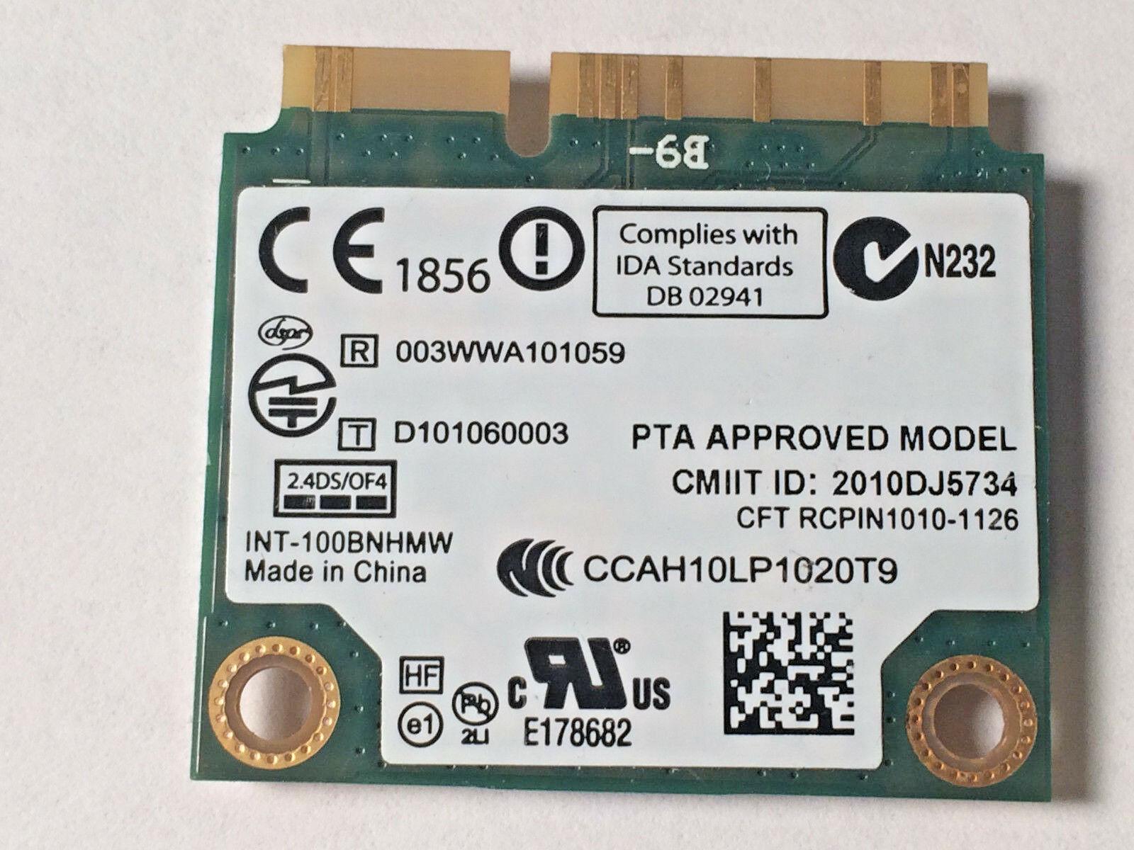Intel Centrino Wireless-N 100 b/g/n 100BNHMW b/g/n PCI-E Half Mini WiFi Card image 2