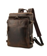 Men's Vintage Classic Leather Casual School Case Travel Weekender Outdoo... - $118.18