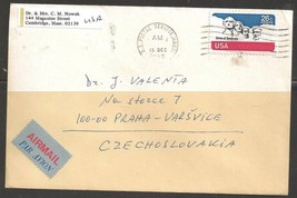 1975 26 cents Mt. Rushmore airmail, MA021 (15 Dec) to Praha Czechoslovakia - $4.00