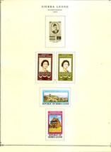 SIERRA LEONE Album page 1977 includes Scott 440-443 SG 597-600  MH - $0.94