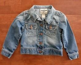 Osh Kosh Boys Girls Denim Jean Jacket Size 5 Blue Medium Wash - $18.99