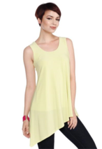 Last Tango Scoop Neck Asymmetrical Hem Tank Top in Kiwi - NOW EXTRA 10% ... - $34.90