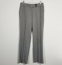 "INVESTMENTS Womens Dress Pants 8R (31"" Inseam) Black/White Stretch Tweed... - $17.60"