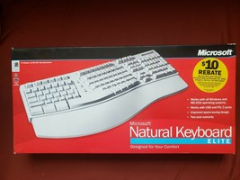 VTG Microsoft Natural Keyboard Elite PS/2 USB Ergonomic Split Keyboard 286-00082 - $95.00