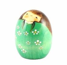JAPAN CRAFT Kokeshi Puppe Happy Green - $51.94