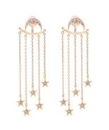 Nds crystal star moon earrings brand jewelry perfume women long convertible earrings 2 thumbtall