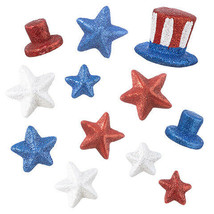 Darice 4th of July Patriotic Stars: Foam, 2 Assorted Styles w - $7.99