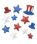 Darice 4th of July Patriotic Stars: Foam, 2 Assorted Styles w - $7.99