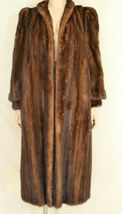 France Olivia mink fur coat FR 44 full length mahogany chic sophisticate brown image 12