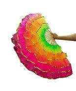 Blancho Bedding Fan/Dancing Fan/Yangge Dance Fan/Colorful Perform Fan Di... - $24.46