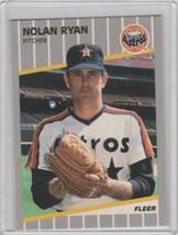 1989 Fleer Glossy #368 Nolan Ryan Houston Astros - $3.00