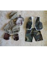 Build-a-Bear Green Camo Vest Digital Backback Old Tyme Overalls Cap Shoe... - $12.99