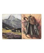 2 Artist Paintings Clothing Mountain Marke Egemes Serie 63 Austria 1913 ... - $4.99