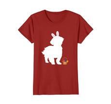 Lhasa Apso Easter Bunny Dog Silhouette T-Shirt Happy Easter - $19.99+