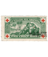 (I.B-CKK) Italy (Great War) Cinderella : Red Cross Charity Stamp (Argent... - $9.92
