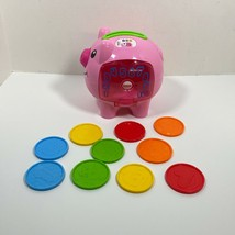 Fisher Price Laugh & Learn Musical Piggy Bank and Coins Pink Pig Counting Toy - $22.64