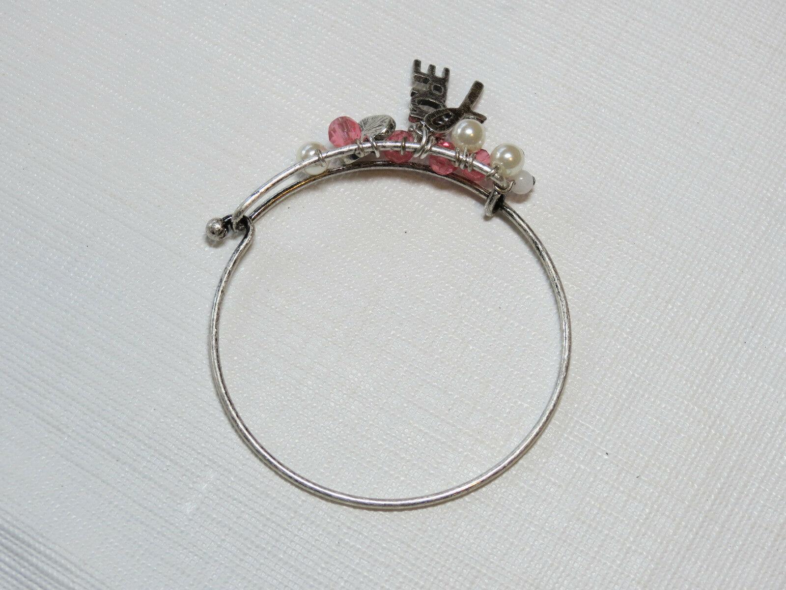 Femmes Avon Cancer Du Sein Crusade Breloque Bracelet F3983781 Nip image 3