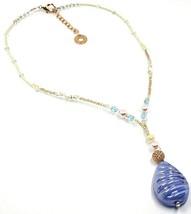 Halskette Antica Murrina Venezia, CO860A19, Tropf Anhänger, Blau Pink image 1